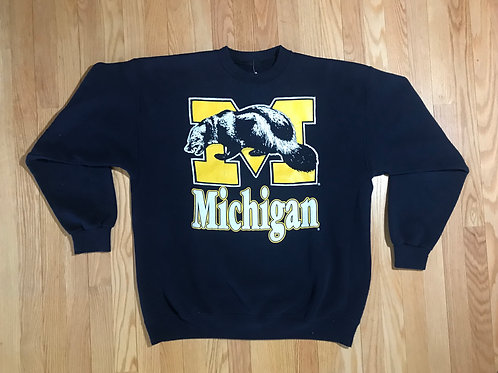 Michigan Script and Wolverine Crewneck