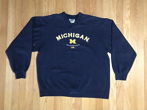 Michigan V-Neck Crewneck