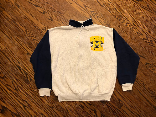 Full Zip Cloth Track Sweater