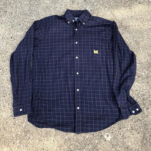 Checkered Michigan Button Down Shirt