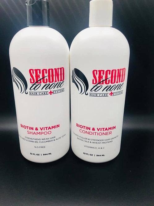 32 oz Biotin & Vitamin Shampoo and Conditioner Combo