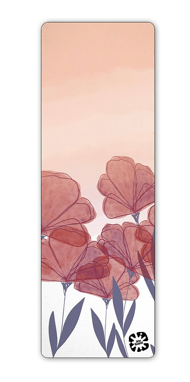 """""""Poppies"""" by Angie Fraley Exercise Yoga Mat"""