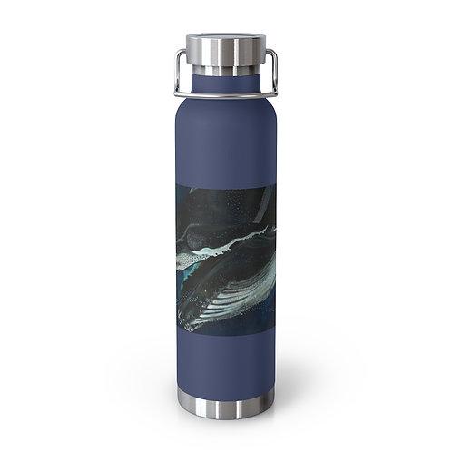 Big Blue Love - Emily Reid. 22oz Vacuum Insulated Bottle