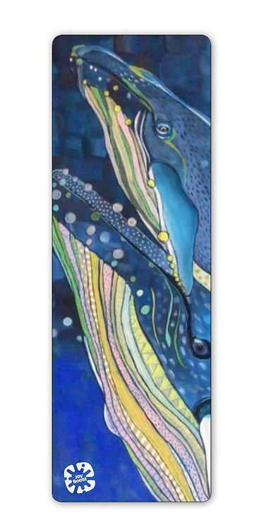 """Big Blue Love""  by Emily Reid Exercise Yoga Mat"