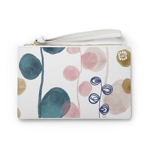 """""""Doodles 2"""" by Angie Fraley Clutch Bag"""