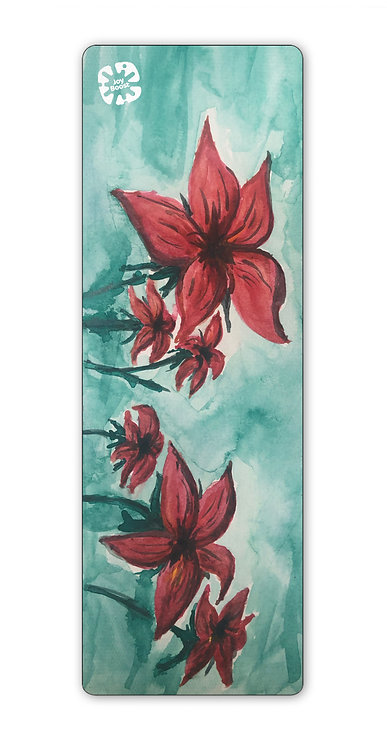 """""""Red"""" by Kim Lundeen Exercise Yoga Mat"""