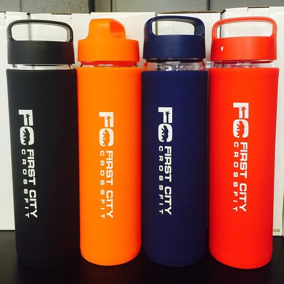 FCCF Glass Water Bottle