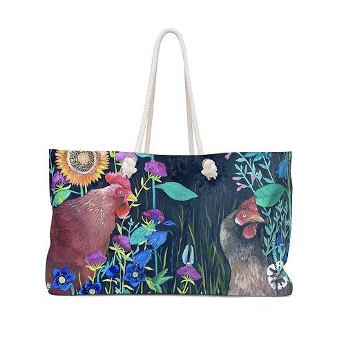 """""""In My Garden"""" by Emily Reid Weekender Bag"""