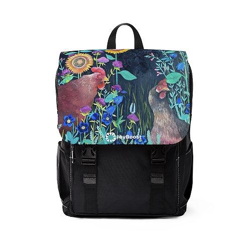 """In my Garden"" by Emily Reid  Unisex Casual Shoulder Backpack"