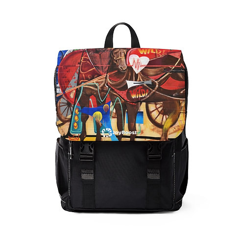 """""""Wild at Heart"""" by Joe C Rock. Unisex Casual Shoulder Backpack"""