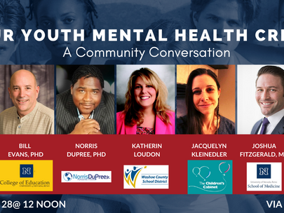 THIS WEDNESDAY! Stigma, Suicide, and Solutions to Our Youth Mental Health Crisis