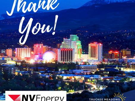 Thank you NV Energy!