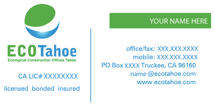 ECO Tahoe Business Card Front