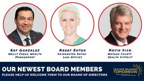 We Welcome 3 New Board Members!