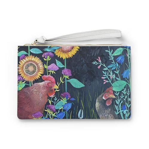 """""""In My Garden"""" by Emily Reid  Clutch Bag"""