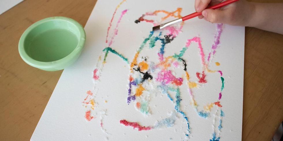 Toddler & Caregiver Art: Salt Painting