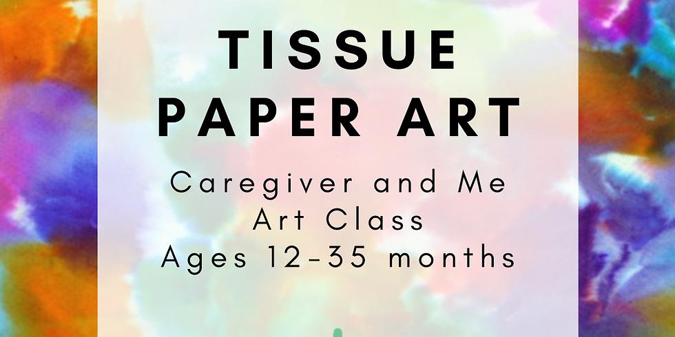 Caregiver and Me Art - Tissue Paper Art