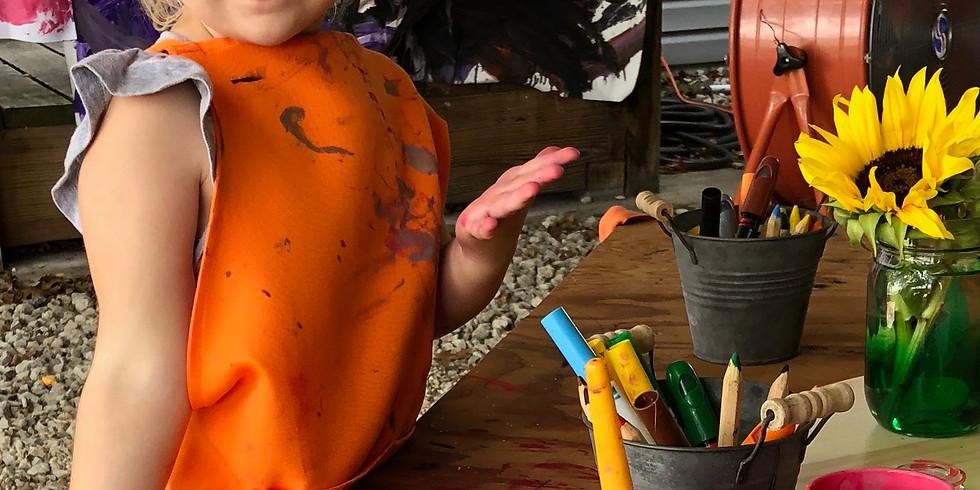 Preschool Art Class - Fall Provocation