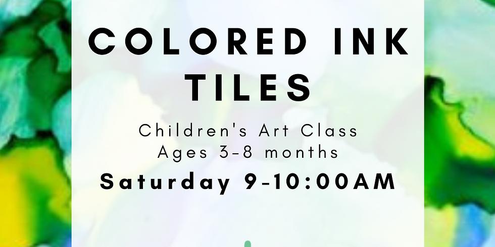 Children's Art - Colored Ink Tiles