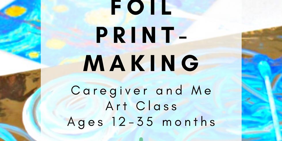 Caregiver and Me Art - Foil Printmaking