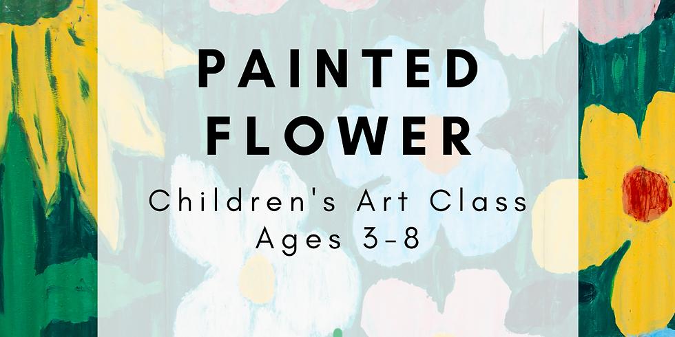 Children's Art: Painted Flower
