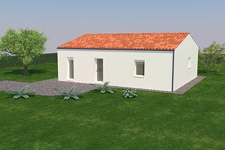 Maison traditionnelle Pepino 66,05 m², vue avant