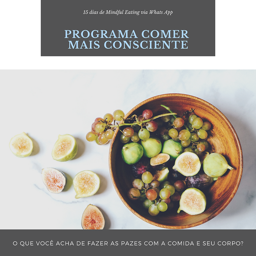 Programa Comer + Consciente no WhatsApp