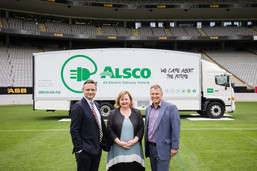 Ministers Shaw and Woods with Alsco NZ G