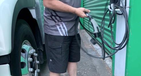 Charging the truck - Alsco Heavy EV