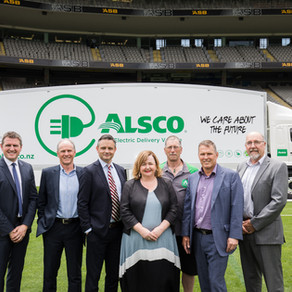 Alsco sets the pace with NZ's First Heavy EV Freighter