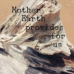 Mother Earth and universe provide energi