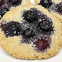 Gluten-Free Vegan Blueberry Sugar Cookie