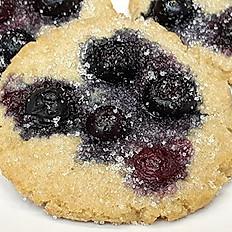 Gluten-Free Vegan Blueberry Sugar Cookie