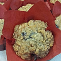 Banana Blueberry Walnut Muffins