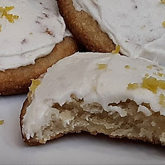 Sugar-Free, Keto, Gluten-Free Vegan Lemon Zest Cookie
