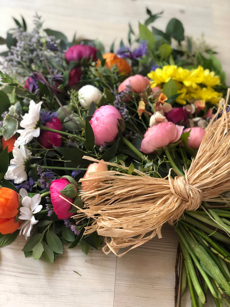 Sheaf bouquet made with British flowers