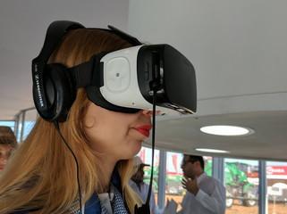 Expoagro banco frances realidad virtual samsung gear VR