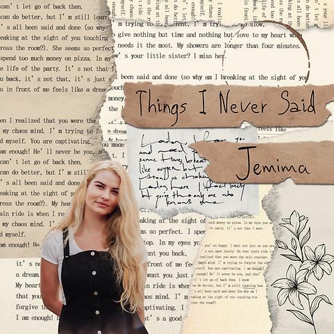 Singer-songwriter Jemima's Things I Never Said folk-pop EP Cover