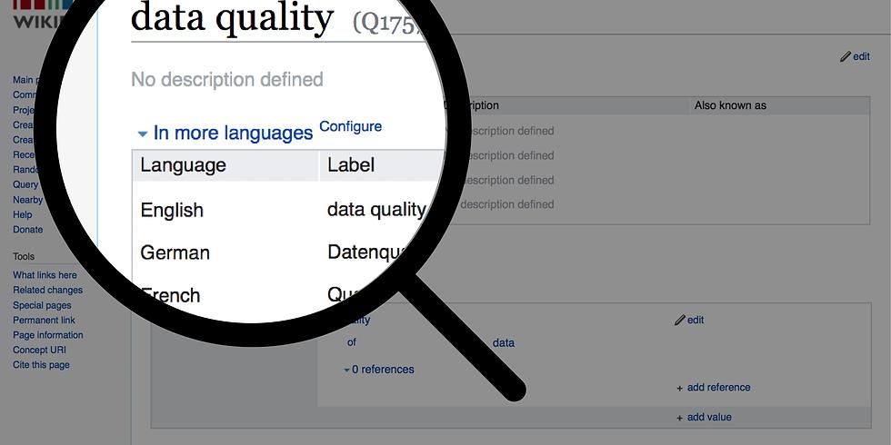 Workshop on Data Quality Management in Wikidata