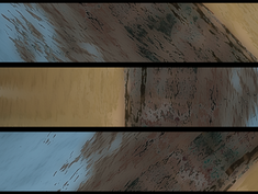 28 - triptych, gaussian blur, pop art