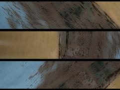 28 - triptych, gaussian blur, pop art