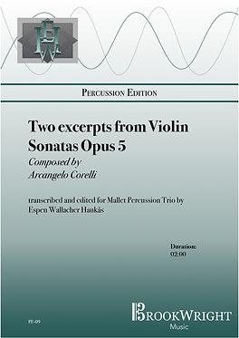 Two excerpts from Violin Sonatas (Mallet Percussion Trio) Corelli trs. Haukås