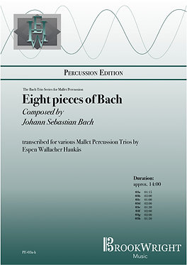 Eight Pieces of Bach (Mallet Percussion Trios) trs. Espen Haukås