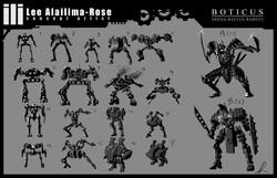 Robot Skeleton Variations