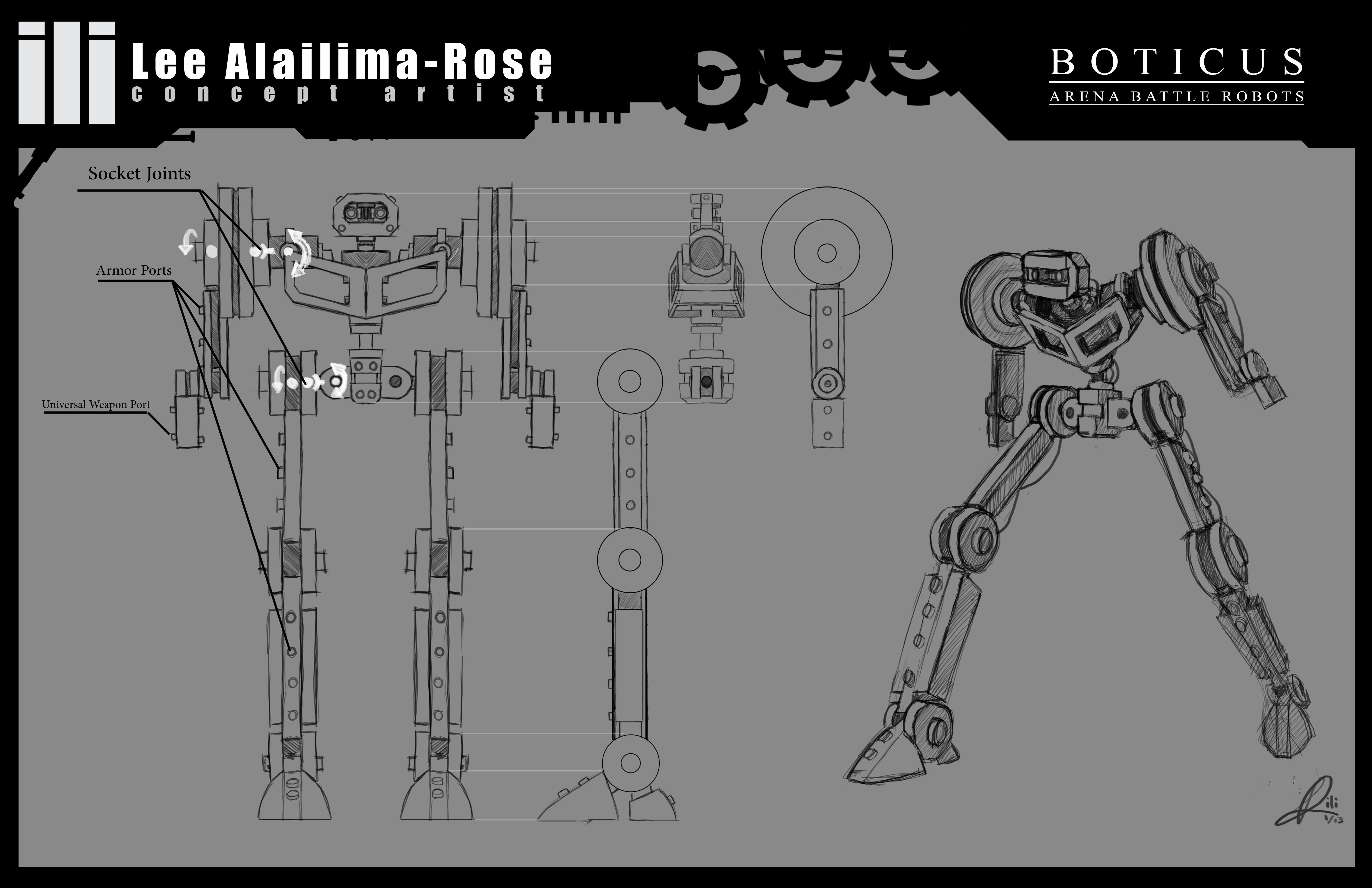 Robot Skeleton Model Sheet