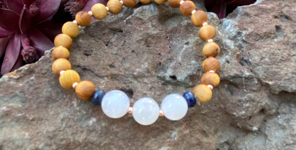 Moon Magic- Moonstone, Lapis Lazuli & Sandalwood