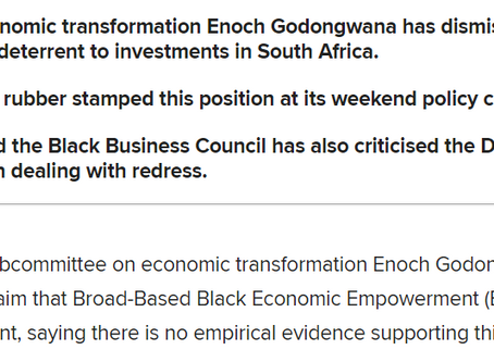 No proof that B-BBEE deters investment in country, ANC's Enoch Godongwana tells DA