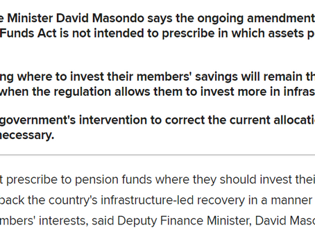 No prescription, but we need pension funds to back the recovery plan, says Masondo