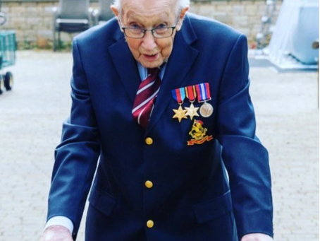 99 Year Old WWII Veteran Raises 16 million for COVID19 Relief