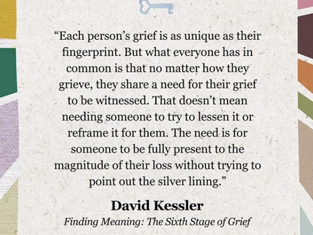 Each Person Grieves in their Own WAy